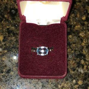 Blue Topaz Pandora Ring. Retired.